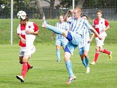 Orlovští fotbalisté mají první bod pod trenérem Jadrným.