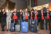 Členové mužského Komorního sboru Permoník po návratu ze soutěže v Gruzii.