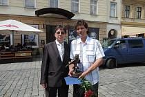 Botanik Radim Slabý se stal Osobností Moravy roku 2018. Na snímku vpravo.