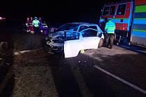 Nehoda na dálnici u Bohumína.