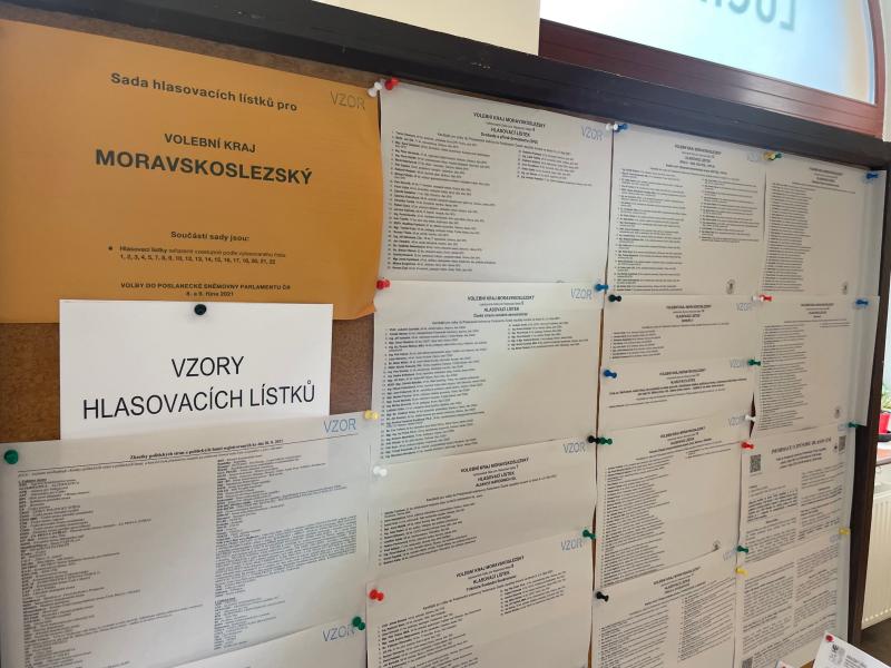 Sněmovní volby v Havířově, 8. října 2021.