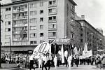 1. máj v Havířově v 60. letech.