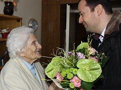 104letá Milada Hillová.