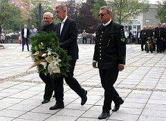 Na letošních hornických slavnostech v Karviné se objevil i český premiér Andrej Babiš.