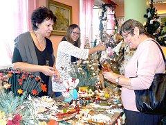 Výstava nabídla krásné vánoční dekorace.