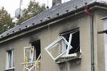 Výbuch plynu poškodil horní patro.