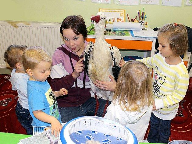 V Dětském centru Smíšek v Petřvaldu byl o přednášku o zvířátka obrovský zájem.