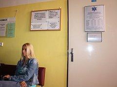 Soukromá diabetologická ordinace v prostorách orlovské nemocnice, kde pacientka při vyšetření vypila nesprávný roztok.