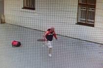 Neznámý pachatel poničil figurínu vojáka u fryštátského zámku, škoda činí 13 tisíc korun, policie prosí o pomoc se ztotožněním postav na snímcích.