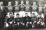 A mužstvo Baníku Horní Suchá vroce 1961.