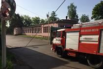 Zásah hasičů u požáru v areálu černouhelného Dolu Lazy v Orlové.