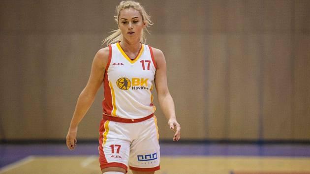 Zklamané byly po posledním víkendu basketbalistky Havířova. Týmu honě chyběla Adéla Morávková (na snímku).