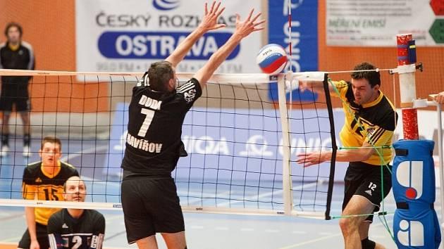 Volejbalisté Havířova se museli sklonit před uměním Zlína. Ve čtvrtek je čeká derby.