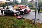 K hromadné nehodě došlo v pátek 2. října 2020 po půl desáté dopolednevHavířově v místě mezi ulicemi Dlouhá třída, 17. listopadu a Junácká.