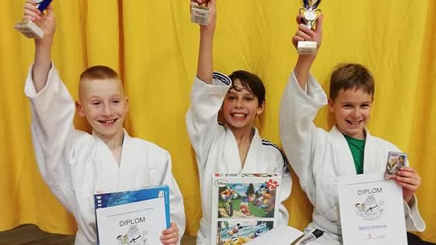 Malí judisté na turnaji v Praze.