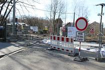 Oprava mostku ve Fryštátě.