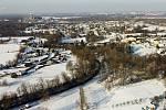 Letecké záběry zimní Stonavy.