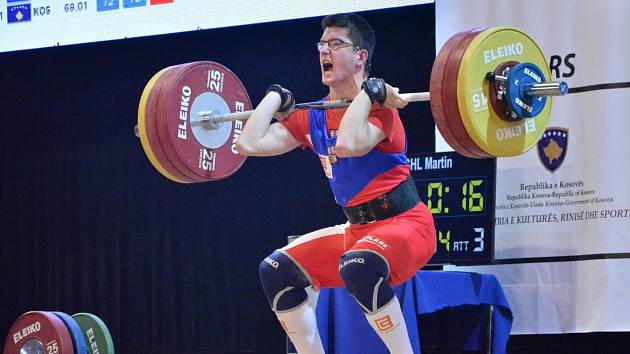 Martin Štreichl vyhrál svou váhovku, stejně jako dalších pět mladých vzpěračů Horní Suché.