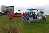 Zraněného motocyklistu musel do nemocnice dopravit vrtulník. Foto: ZZS MSK