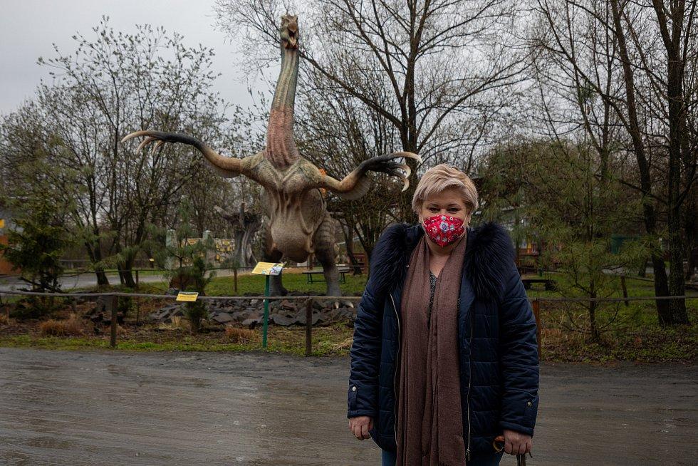 Manažerka dinoparku Pavlína Drzyzgová.