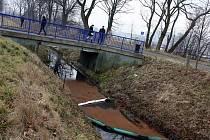 Celkem tři zábrany chrání od středečního večera vody řeky Olše, do které se vlévá kontaminovaný potok v Karviné-Starém Městě.