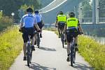 Smíšené policejní cyklohlídky v česko-polském pohraničí.