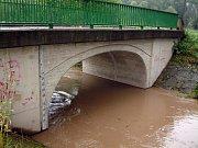 Nový most přes řeku Lučinu v Havířově.