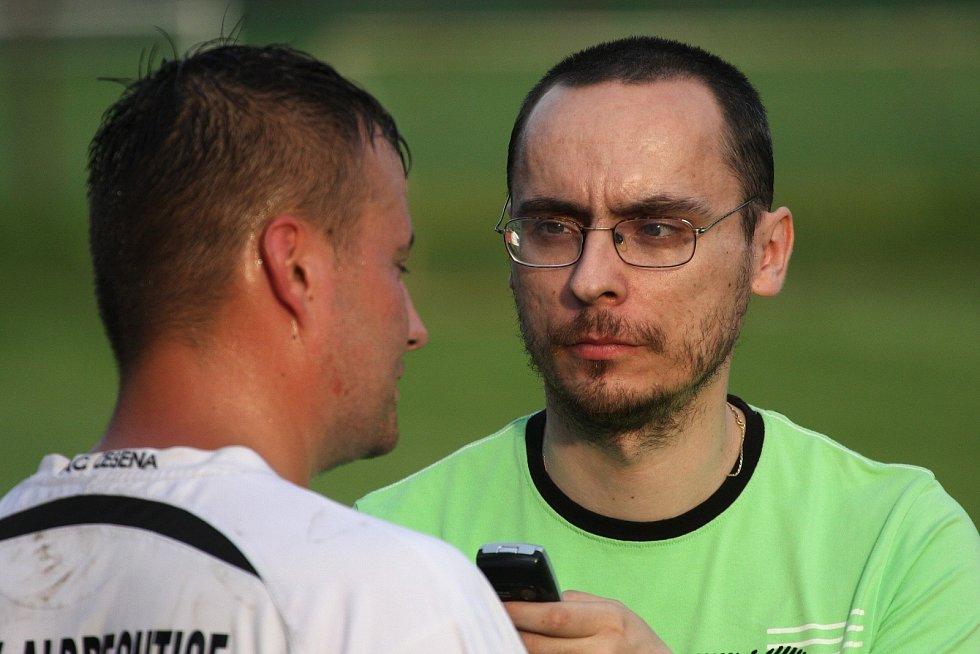 Ze zápasu Albrechtice - Vratimov 3:0.