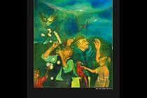 Sítě 3, olej na plátně