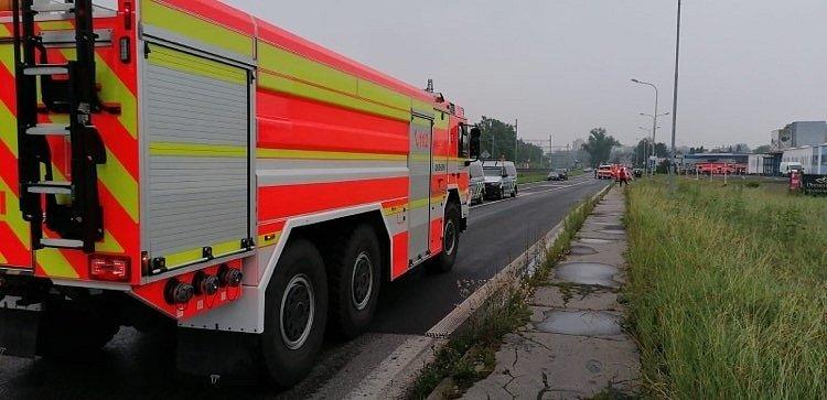 V Karvinské ulici v Českém Těšíně hořela ve čtvrtek ráno benzinka.