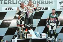 Vítězové královské kubatury nad 600 ccm. Zleva Didier Grams, držitel Havířovský Zlatý kahanec Branko Srdanov a bronzový Steven Michels.