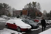 První sníh v Karviné.