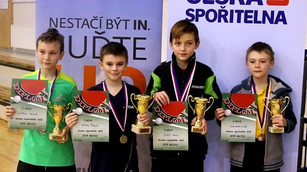Nejmladší žáci SKST Baník na bodovacím turnaji.