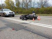 Tragická nehoda skútru na Ostravské ulici v Orlové.