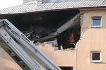 Výbuch v Havířově v domě na Jarošově ulici.
