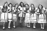 Smíšený sbor Olza, taneční skupina, rok 1950.