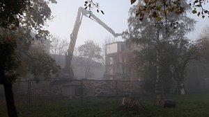 Demolice městského domu v Karviné