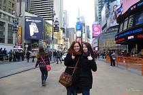 Zpěvačky z koncertního sboru Permoník v New Yorku