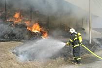 Požár seníku v Těrlicku