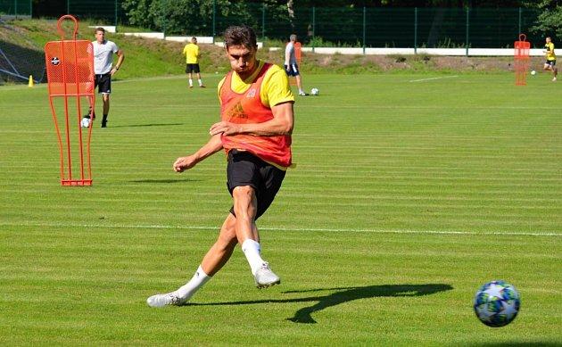 Michal Papadopulos na tréninku.