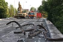 Oprava mostu v Orlové.