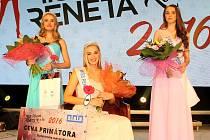 Miss Reneta 2016 se v pátek 8. dubna v Havířově stala Pavla Ohnišťová Brna. 2. místo obsadila Michaela Kadlecová z Prahy. 3. místo získala Wiktoria Brzuska z polského města Rydultowy.