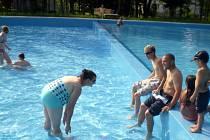 Letní koupaliště v Doubravě.