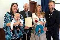 V obřadní síni na Zámku v Havířově se konalo v neděli 9. dubna v pořadí šesté vítání občánků v letošním roce.