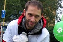 Havířovský učitel a ekologický aktivista Josef Hanibal na snímku z předvolební kampaně Zelených.