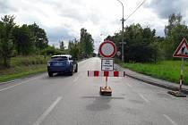 Dopravní uzavírka.