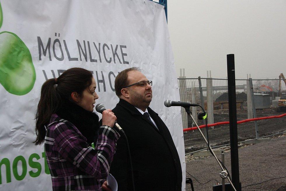 Slavnostní zahájení stavby Mölnlycke Health Care v Havířově-Dolní Suché. Hejtman Moravskoslezského kraje Miroslav Novák.