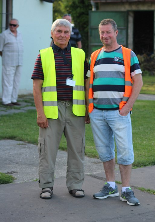 Současný předseda Viktorie Günter Cviner (vlevo) a bývalý předseda Miroslav Strakoš.