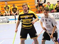 David Beneš (vlevo) a spol. hrají v sérii s Ústím 2:2.