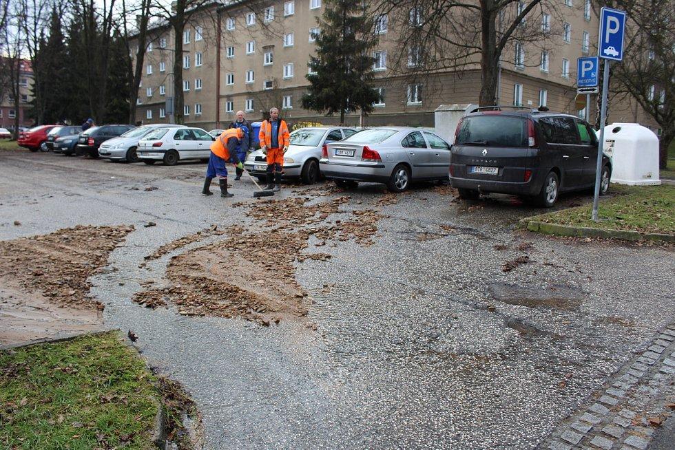 Havárie vody v Havířově.